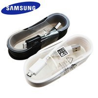 usb verileri samsung galaxy s3 original toptan satış-100 adet Orijinal 1.5 m Mikro USB Data Sync Kablosu Hızlı Şarj Kablosu Samsung Galaxy S6 s7edge Not 4 5 S4 S3 Siyah Beyaz Opp Çanta içinde