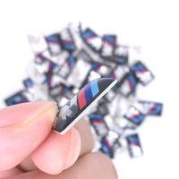 arabalar için spor rozetleri toptan satış-100 adet / grup M küçük Dekoratif Badge Hub kapaklar BMW M Spor M3 için direksiyon M3 M5 X1 X3 E46 E39 E60 E90 F36 Araba Amblem Sticker