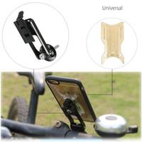 подставка для iphone для велосипедов оптовых-Универсальный держатель для велосипеда на велосипеде Держатель на руле Велоспорт из алюминиевого сплава Стенд Кронштейн для iPhone 6 7 для мобильного телефона Samsung