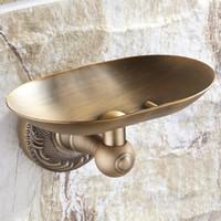 bases en laiton achat en gros de-Antique en laiton en gros et au détail en laiton antique base porte-savon support mural support de savon plateau nous livraison gratuite