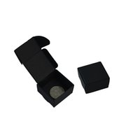 Wholesale chocolate gift packing online - 4 cm Black Kraft Paper Packaging Box Mini Wedding Party Gift Jewelry Packing Box For DIY Handmade Soap Chocolate Candy Craft Paper Box