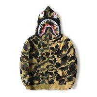 farbige strickjacken groihandel-Top Qualität APE Sweatershirts mit Baumwolle Justin Bieber aus Herrenbekleidung Shark Coloured Sweater Langarm Damen Strickjacke
