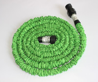 Wholesale retractable hoses for sale - Garden hose FT Flexible X Garden Water Hose With Spray Gun Car Wash Pipe Retractable Watering Telescopic Rubber Hose