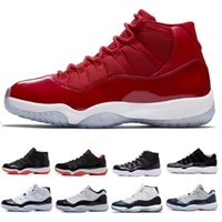 Wholesale best low cut basketball shoes - High Quality 11 Space Jam 2018 Best Quality Bred Gama Blue Basketball Shoes Men 11 Concords 72-10 Legend Blue Cool Grey Sneakers