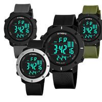 mix de monitor venda por atacado-SYNOKE LED Relógio Esporte Digital Crianças Ao Ar Livre À Prova D 'Água Relógios Eletrônicos Multi-Função 50 M Dupla Ação 9658 Relógio