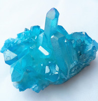 ingrosso quarzo cristallo blu-85 grammi cristalli di cristallo di guarigione del reiki dei cluster di cristallo di cristallo del cluster di cristallo di angelo di aura blu naturale Trasporto libero