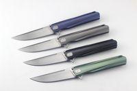 cuchillo plegable al por mayor-Mango integrado STEDEMON Studio SHY5 mango de aleación de titanio plegable CUCHILLOS La cuchilla CTS - 204 P Esquema transversal