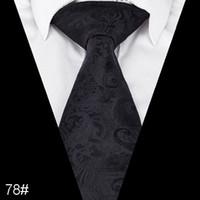 Wholesale paisley neck ties hanky for sale - Group buy Paisley Floral Ties for Men Formal Wide Tie Neckties Jacquard Woven Classic paisley men tie Size cm