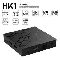 Wholesale android usb pc tv box online - HK1 Smart TV Box Android GB GB EMMC K Streaming Media Player G Wifi USB Amlogic S905W Quad Core Mini PC