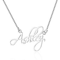 ingrosso pendenti su ordine della collana-Collana ciondolo in argento sterling 925 piccoli gioielli personalizzati con qualsiasi nome di gioielli personalizzati personalizzati per le donne (NE101643)