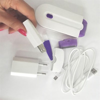 Wholesale Women Laser Hair Remover - Electric Laser Hair Removal Machine women Pain Free epilation Set Sense-Light Body Facial Hair Remover Rechargeable Epilator Toiletry Kits