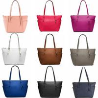 Wholesale hobo bags online - 9 colors Women Handbags PU Leather Shoulder Bags Purse Large Capacity Travel Duffle Striped Waterproof Tote Bag Wallet GGA600