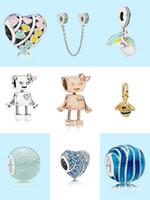 Wholesale diy for sale - Group buy MOQ Charm Beads Bella Bot Rainbow Cloud love heart Bee Pendant Apple Bead Charm Fit for Bracelet Bangle DIY Jewelry