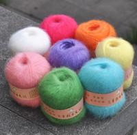 ingrosso abiti da scialle-VENDITA 50 g / palla Angola mohair cashmere lana filato matassa per maglieria sciarpa scialle maglione vestito cappello un
