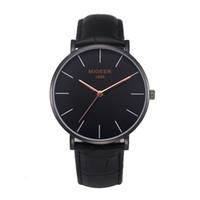 новые стильные наручные часы оптовых-MIGEER  Business Men Watches New Stylish Male Quartz Wrist Watch Classic Mens Clocks Relogio Masculino Saat Gift