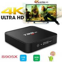 Wholesale android box tv 2k 4k - T95M Android TV Box Amlogic S905X Quad Core K K G G HD WiFi Streaming Smart Set top Media Player