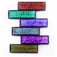 Wholesale indoor scrolling signs resale online - NEW LED Name Badge with Magnet and Pin Scrolling display Message Sign x11 Dots Rechargeable Led Name Tag For Event