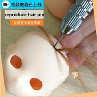 accesorios para hacer muñecas al por mayor-4 unids / set BJD muñeca blyth cambiar herramientas raza de pelo Muñeca de pelo Hacer Accesorios para herramientas ob reproducir conjunto de herramientas de la peluca DIY