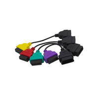 tarayıcı için obd2 kablosu toptan satış-4 ADET Tam Setleri Için Çok ECUScan ECU Tarama Adaptörü Paketi Kablo OBD OBD2 ECU Kabloları Açar ABS Hava Yastığı Teşhis Tarayıcı