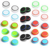 xbox one sticks venda por atacado-Dual color silicone joystick cap polegar aperto vara apertos caps case para ps4 ps3 xbox one 360 wii controlador dhl fedex ems frete grátis