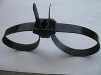 kendinden kilitli kravatlar toptan satış-Çift Flex Manşet Tek Kullanımlık Kelepçe Plastik Polis Kelepçe Dnylon Kendinden Kilitleme Kravat Kablo Zip Bağları Siyah 0 98pd gg
