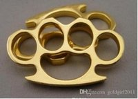 Wholesale new kung fu - New Gold Metal BRASS Brass Metal Knuckle Buster Belt Buckle Fighter cool hip dusters Free shipping