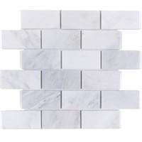 ingrosso cucina bianca piastrelle muro-Mattonelle di mosaico di marmo bianco grigio di Carrara backsplash della cucina Piastrella di pietra della parete della casa del pavimento della doccia del bagno, trasporto libero, LSMBST01