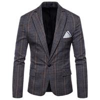 korea klagemann großhandel-IEF.GS 2018 Neue Mode Lässig Männer Blazer Baumwolle Schlanke Korea Stil Anzug Blazer Masculino Männlichen Anzüge Jacke Blazer Männer M-4XL