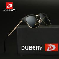 Wholesale polycarbonate sunglasses for sale - Group buy DUBERY Classic Sunglasses Men Women Retro Brand Design High Quality Sun Glasses Polycarbonate UV400 Mirror Sunglass D3016 D18102305