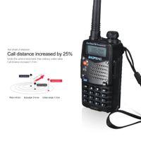 kanalbänder großhandel-Baofeng Professional Hand-Transceiver Radio-Empfänger Walkie-Talkie Interphone Dual-Band-Dual-Frequenz-Display Walkie Talkie EU-Stecker