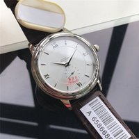 modern mechanical watches Australia - 42mm Mens Automatic Watches Silve Dial 316L Stainless Steel Case Leather Strap Mechanical Movement Mens Wristwatches Luxury Watches Men O58
