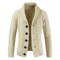 свитер с капюшоном оптовых-Зима свитер новый горячий продавать средней длины мужской белый свитер кардиган тренч мужской осень теплая куртка пальто Рождество свитер