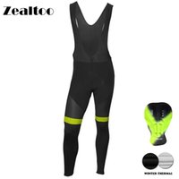 Wholesale cycling thermal trouser for sale - Group buy Zealtoo Winter Black Cycling Pants Gel Pad Bike Bicycle Trousers Long Culotte Ciclismo Men Women Thermal Fleece Cycling Wear