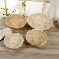 Wholesale Bowl Baking - Bread Proofing Proving Baskets Durable Round Rattan Basket Banneton Brotform Bowl Baking Tools New 25xx7 C R