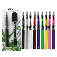 ingrosso blister atomizzatore-Ego-T CE4 E Cigarettes Inizio Kit EGO-T CE4 atomizzatore Blister Vape Pen 650mAh CE4 Cartomizer con il caricatore USB