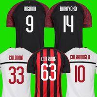 Wholesale AC milan soccer jersey football shirt HIGUAIN BAKAYOKO BORINI KESSIE CALDARA CUTRONE Camisa CALHANOGLU BONAVENTURA maillot