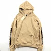 kanye west neu großhandel-Saison 5 Männer Frauen Stickerei Calabasas Hoodies 1a: 1 Top Qualität Kanye West Neue Angekommene Sweatshirts Pullover Staffel 5 Hoodies