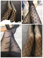 schwarze silberne strümpfe großhandel-Schwarz Sexy Transparent Strümpfe Europa Und Amerika Fashion Tide Logo Frauen Enge Socken Verhindern Haken Seide Strumpfhosen