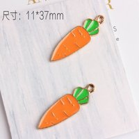Wholesale vegetable charms for sale - Group buy 100pcs Vegetable Charm Enamel Carrot charms Pendant mm good for DIY craft jewelry making