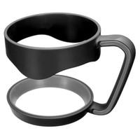 держатели стаканов оптовых-Портативная пластиковая Черная бутылка воды кружки ручка чашки для 30 унций стакан чашка держатель для рук подходит путешествия посуда