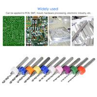 pcb karbür matkap ucu toptan satış-Tungsten Karbür Mikro Matkap Uçları Set PCB Gravür Araçları Devre Kurulu için 0.3-1.2mm / 1.1-2.0mm 10 adet Araçları Set