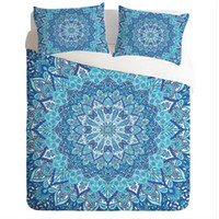 Wholesale blue floral sheet set queen for sale - Group buy Bohemian Style Bedding Set Floral Printed Hot Salesize Twin Queen King Size High Quality Duvet Cover Flat Sheet Pillow case