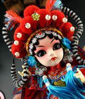 Wholesale Chinese Mans Dolls - Silk man gifts, jujube cartoon cartoon doll decorations, Peking Opera facial makeup, opera characters, gifts, gifts, Chinese characteristics