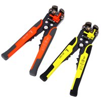herramientas engarzadoras al por mayor-Freeshipping Wire Stripper Cutter Crimper automático multifuncional TAB Terminal Cable Crimping Stripping Alicates Herramientas