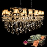 Wholesale led maria theresa chandelier - Hotel Maria Theresa Lights Authentic Cristal Pendants Rectangle Crystal Chandelier Lamp Foyer Lusters for Dining Room 18 lights