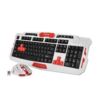 пучок клавиатуры оптовых-2.4GHz Wireless Multimedia Gaming Keyboard & Mouse Mice Bundle Set for Desktop Laptop