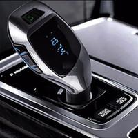 аудио интерфейс bluetooth оптовых- New Bluetooth Car FM Transmitter Car mp3 Player Wireless Music Audio with USB interface Charger Drop shiping @019