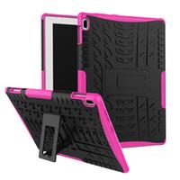 Wholesale huawei mediapad casing - For Huawei MediaPad T3 10 9.6 Case Hybrid Armor Shockproof Heavy Duty Rugged PC+Silicone Case for Lenovo Tab 4 10 Plus TB-X304F+Stylus