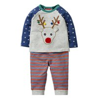 Wholesale children christmas clothing for sale - Baby Boys Clothing Sets Christmas Children Clothing Sets with Animals Appliques Long Sleeve Autumn Winter Kids Outfit