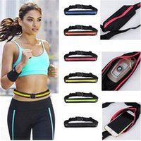 ingrosso borsa per la corsa-commercio all'ingrosso Unisex Outdoor Sports Bum Bag Cinghia da viaggio Marsupio da viaggio Marsupio Soldi Phone antifurto Pack Belt Sport Bag